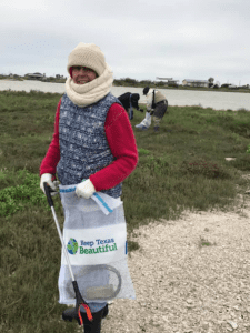 Bagging trash on the rookery island on the coldest day of the year...
